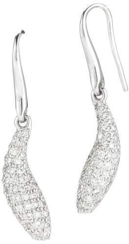 Tiffany & Co. 18K White Gold and Diamond Teardrop Earrings