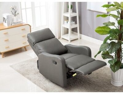 """Thumbnail for your product : Winston Porter Aicke 29.5"""" Wide Faux Leather Manual Standard Recliner"""