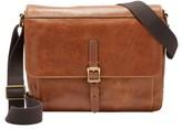 Fossil Men's Defender Leather Messenger Bag - Brown