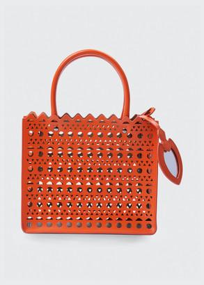 Alaia Garance Small Laser-Cut Box Tote Bag