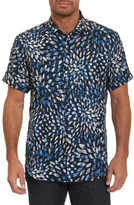 Robert Graham Men's Pebble Beach Print Short Sleeve Sport Shirt