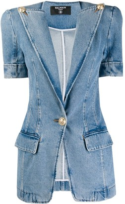Balmain Vintage-Effect Denim Jacket