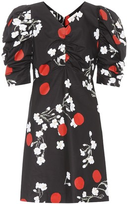 Isa Arfen Floral-printed cotton minidress