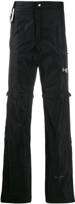 Heliot Emil zipped knees detail trousers