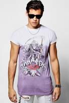 boohoo Longline Bleach T-Shirt