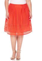 WORTHINGTON Worthington Solid Knit Pleated Skirt Plus