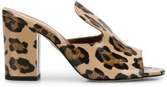 Paris Texas .leopard Print Sabot Mules