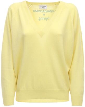 Luisa Via Roma Cashmere Knit V Neck Sweater