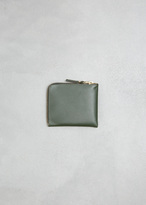 Comme des Garcons Bottle Green Half Zip Wallet