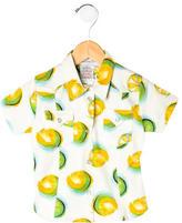 Christian Dior Girls' Printed Button-Up Shirt w/ Tags