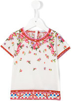 Dolce & Gabbana Carretto Con Rose T-shirt - kids - Cotton - 9-12 mth