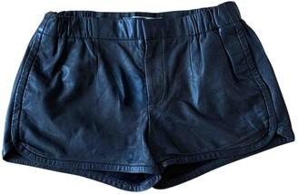 Thakoon Black Leather Shorts for Women
