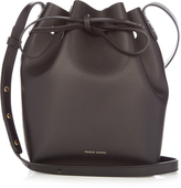 Mansur Gavriel Blue-lined Mini leather bucket bag