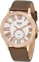 Burgi Women's BU56RG Swiss Quartz Diamond Strap Watch