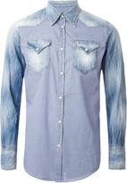 DSQUARED2 gingham and denim mix shirt