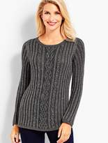 Talbots Beaded Cable Sweater