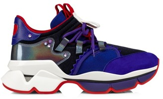 Christian Louboutin Mix Media Mesh, Suede & Leather Runners
