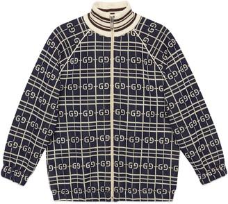 Gucci Children's GG check cotton jersey sweatshirt