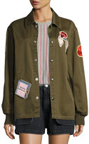 Opening Ceremony Gestures Twill Coach Jacket, Olive