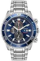 Citizen - Men's Silver 'Promaster Diver' Eco Drive Chronograph Bracelet Watch Ca0710-82L
