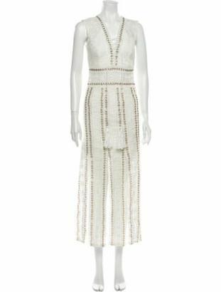 Thurley V-Neck Mini Dress White