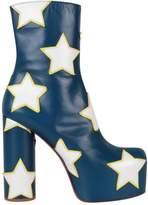Vetements Star Appliqué Leather Platform Boots