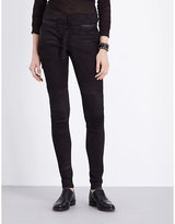 Isabel Benenato Skinny high-rise leather biker trousers