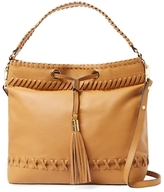Milly Astor Whipstitch Leather Hobo