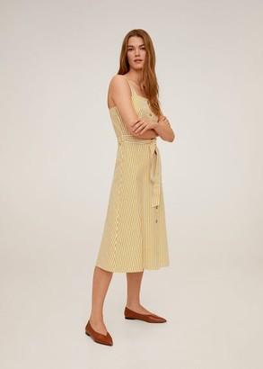 MANGO Buttoned midi dress mustard - 2 - Women