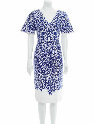 Oscar de la Renta 2017 Midi Length Dress w/ Tags Blue