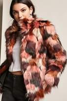 Forever 21 Multicolor Faux Fur Coat