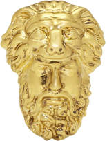 Gucci Gold Hercules Mask Ring
