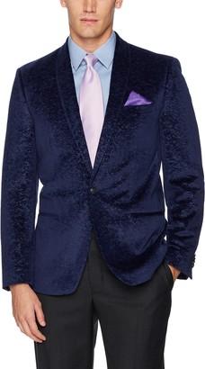 Ben Sherman Men's Two Button Slim Fit Paisley Sportcoat