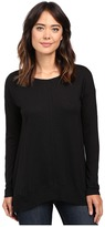 Lilla P Pima Modal Slub Long Sleeve Rib Boat Neck Women's Clothing