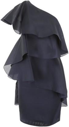 Lanvin One-Shoulder Ruffle Dress