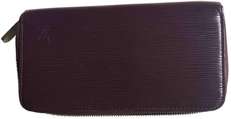 Louis Vuitton Zippy Purple Leather Wallets