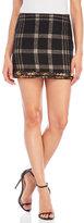 Rachel Zoe Plaid Boucle Skirt