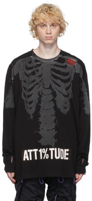 99% Is Black Reflective Skull Long Sleeve T-Shirt