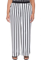 ELOQUII Plus Size Striped Pant