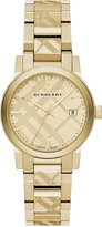 Burberry Women's Swiss Gold Ion-Plated Stainless Steel Bracelet Watch 34mm BU9145