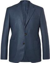 Hardy Amies Navy Slim-Fit Unstructured Cashmere Blazer