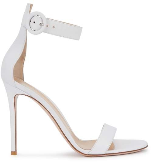 Gianvito Rossi Portofino 105 White Leather Sandals