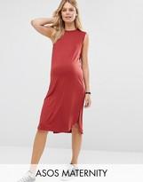 Asos Sleeveless Curved Hem T Shirt Dress