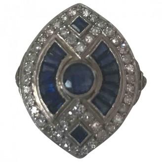 Non Signé / Unsigned Non Signe / Unsigned Art Deco Blue White gold Rings