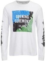 Opening Ceremony Men's Marker Logo Long Sleeve TShirt - White/Multi