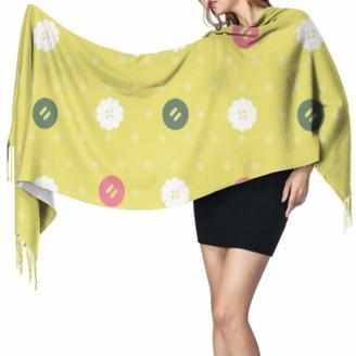 Yushg Fashion Cute Colorful Creative Button Cashmere Women Scarf Girls Scarfs Scarfs Cashmere 77x27inch/196x68cm Large Soft Pashmina Extra Warm