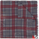 Valentino slogan plaid scarf - men - Modal/Cashmere - One Size