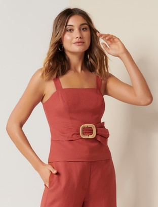 Ever New Byron Belted Peplum Bustier
