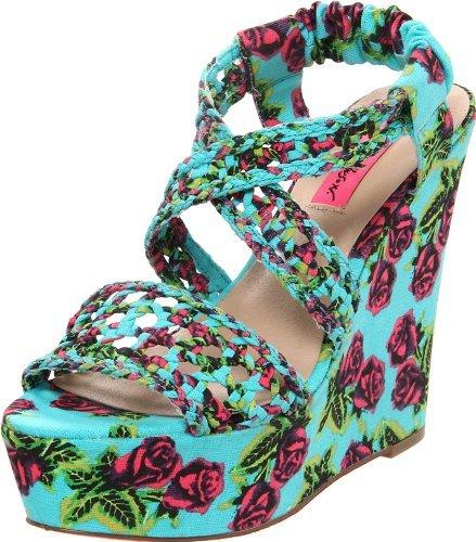 Betsey Johnson Women's Busta Wedge Sandal