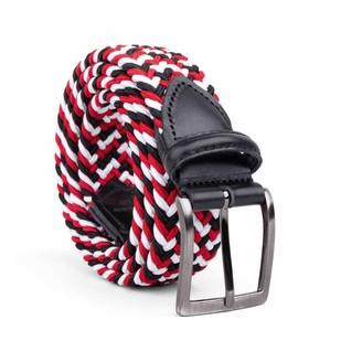 Dalgado Braided Viscose Belt Red/Black/White Luigi